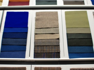 Some of the many available fabrics available.