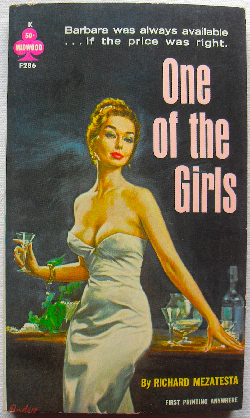 1963 ONE OF THE GIRLS Vintage Book Cover - Trashy Novel.JPG